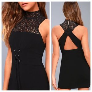 Free People NWT Black Lace Bodycon Dress S